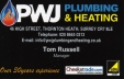 PWJ Plumbing Business Card